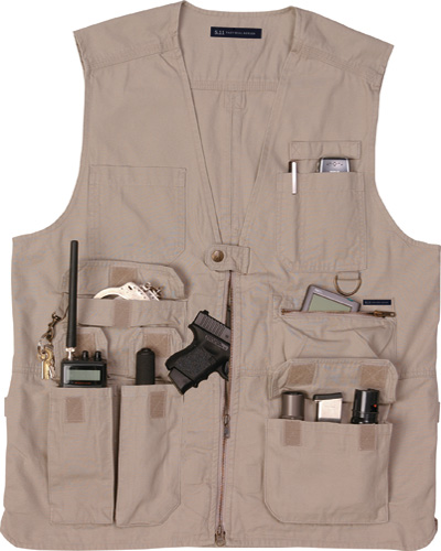 KHAKI 5.11 TACTICAL VEST