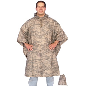 Army Digital Poncho with Bag Complete to carry anywhere
