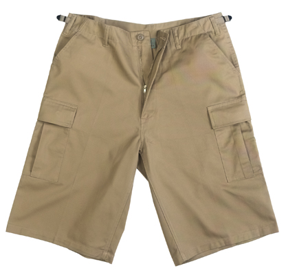 Khaki BDU Shorts Knee Length