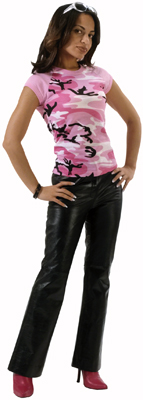 Ladies' Pink Camo T-Shirt