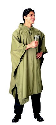 Olive Drab Poncho w/Stuff Bag Handy to carry Anywhere!