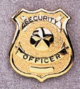 Gold Security Officer Badge