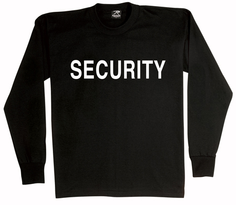 Long Sleeve Security T-Shirt 2 Sided Imprint