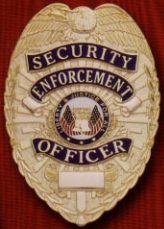 Security Officer Badge Gold Tear Drop Stock Badge