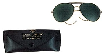 Air Force style sunglasses Green lens