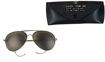 Air Force style sunglasses Brown lens
