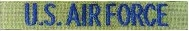 Olive (OD) Military Name Tapes with Blue Letters Minimum 3