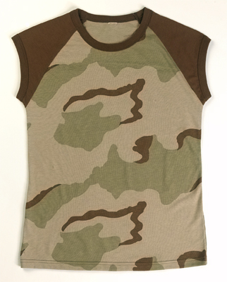 Ladies Tri-color Raglan Tee Camo/ Brown 2- Tone