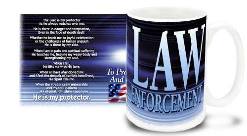 Law Enforcement Prayer Mug