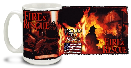 Fire and Rescue Fireman Mug
