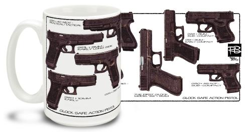 Glock By R. Burrows Mug
