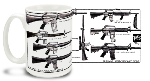 M-16 By R. Burrows Mug