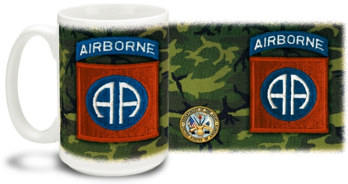82nd Airborne Mug With Army Crest