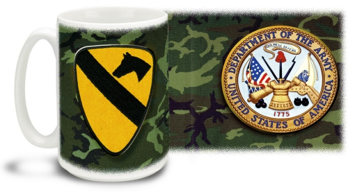 1st Calvary Mug With Army Crest