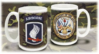 173rd Sky Soldier Airbourne With Crest Mug