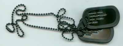 Black Dog Tag Double Set and Rubber Silencers