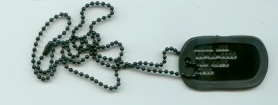 Black Single Dog Tag With Silencer
