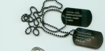 Black Dog Tags Double Set