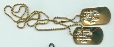 Gold Dog Tags Double Set