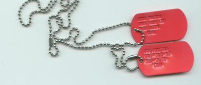 Red Dog Tags Double Set