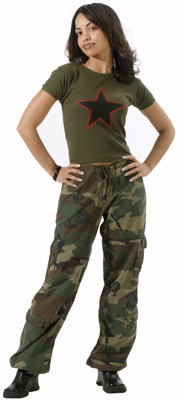 Women's Woodland Vintage Paratrooper Pants