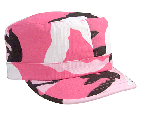 Women's Pink Camo Fatigue Cap Adjustable