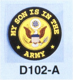 My Son Is In The Army 4 Inch Round Decal