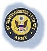 My Granddaughter Is In The Army 3 3/8 Round Decal