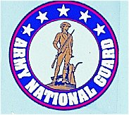 Army National Guard 4 Inch Round Decal