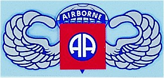 Airborne AA With Wings 10 Inch Decal