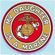 My Daughter Is a Marine Decal 4 Inch Round Decal