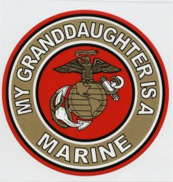 My Granddaughter Is A Marine 4 Inch Decal