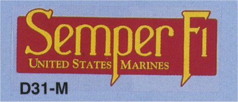 Semper Fi -US Marines Outside Decal