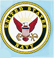 US Navy 4 Inch Round Decal Outside