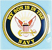 My Son Is In The Navy 4 Inch Round Decal