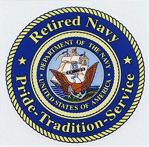 Retired Navy Pride-Tradition- Service Decal
