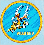 Seabees Decal 4 Inch Round Dec