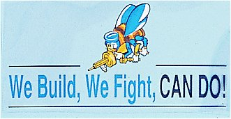Seabees We Build We Fight Decal