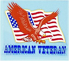 American Veteran W/ Flag and Eagle Decal