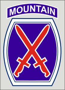10th Mountain Logo Shield Decal 4 Inch