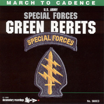 CD Special Forces Green Berets March to Cadence