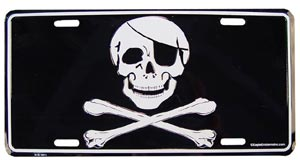 Pirate- Skull and Bones License Plate