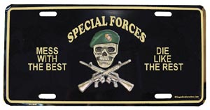 Special Forces Mess With The Best License Plate