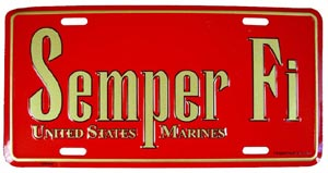 USMC With Semper FI License Plate