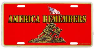 USMC America Remembers License Plate