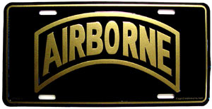 Army Airborne License Plate
