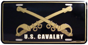 Army US Calvary Swords License Plate