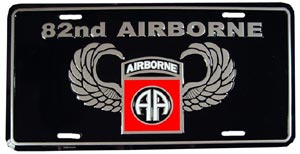 Army 82nd Airborne License Plate
