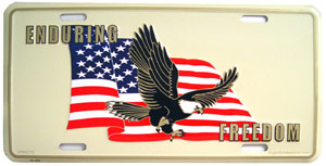 Enduring Freedom License Plate