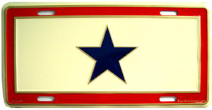 Blue Star License Plate